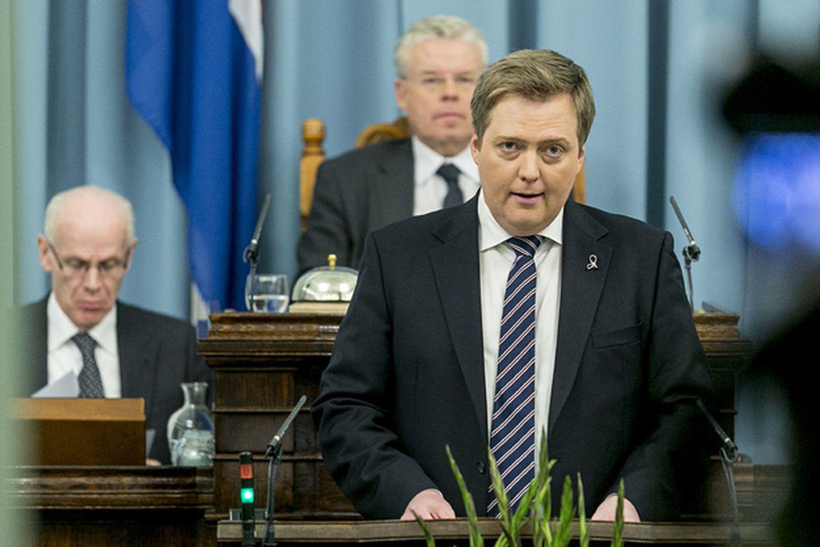 Sigmundur Davíð Gunnlaugsson flytur stefnuræðu sína í kvöld.