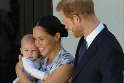 Meghan og Harry hafa nýtt tímann í kórónuveirufaraldrinum með syni sínum Archie.
