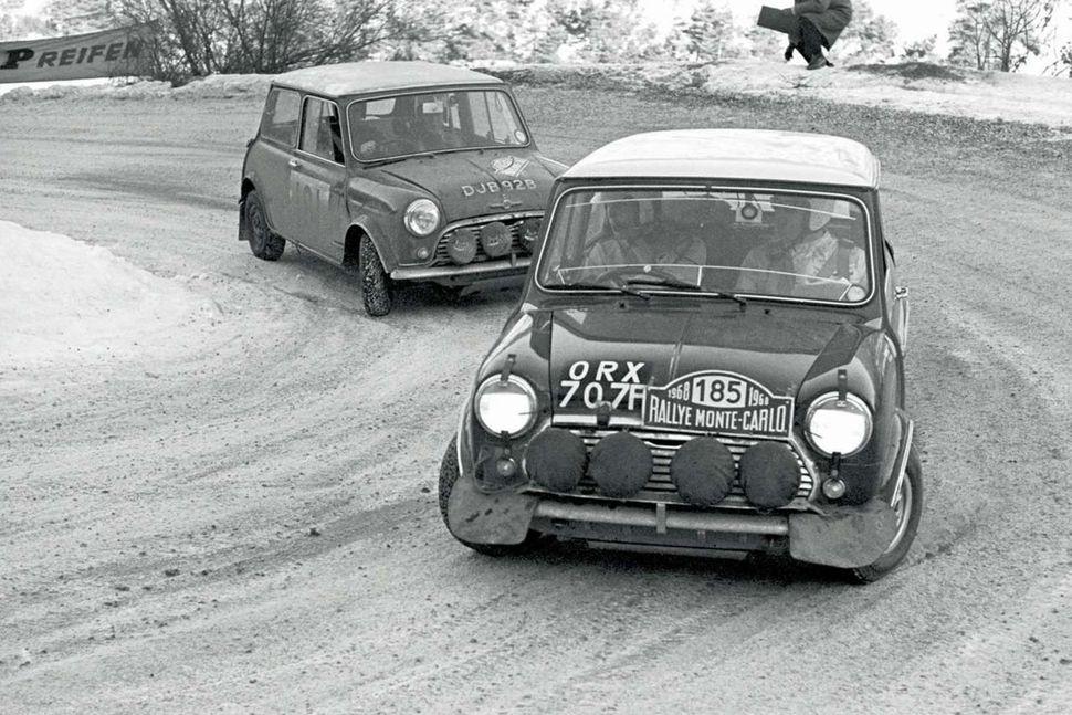 Austin Mini Cooper af árgerðinni 1968.