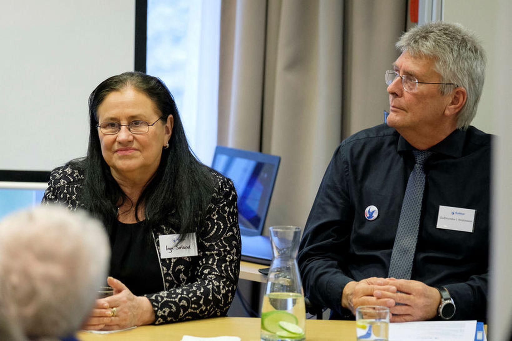 Guðmundur Ingi Kristinsson, þingmaður Flokks fólksins, ásamt Ingu Sædal, formanni …