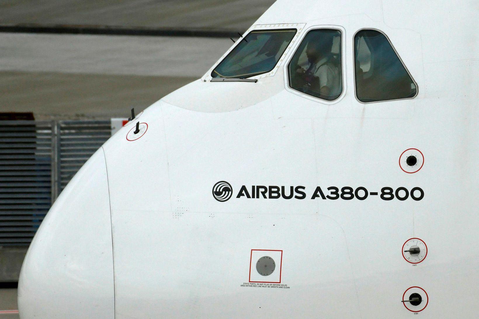Flugvél Airbus.