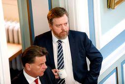 Sigmundur Davíð Gunnlaugsson, formaður Miðflokksins, segir málinu ekki lokið með samþykkt þriðja orkupakkans.