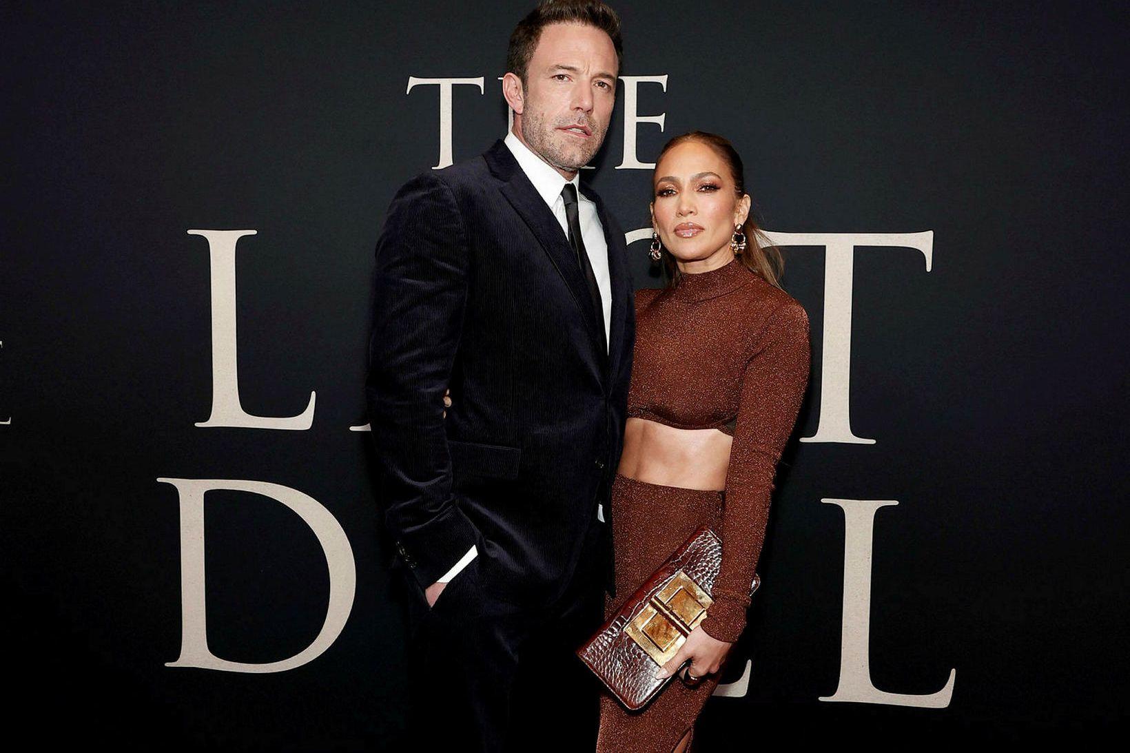 Ben Affleck og Jennifer Lopez á frumsýningu The Last Duel …