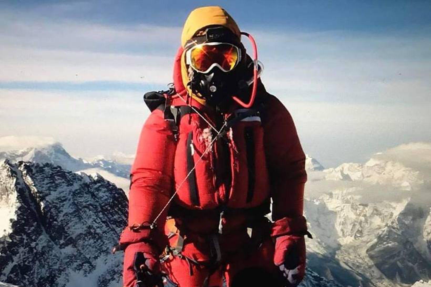 Vilborg á toppi Everest.