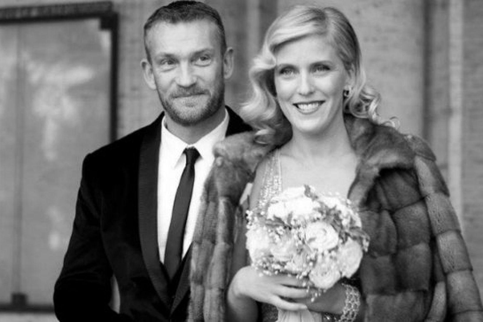 Björgólfur Thor Björgólfsson og Kristín Ólafsdóttir.