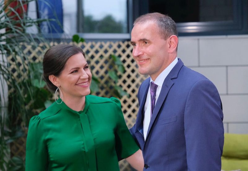 First Lady Eliza Reid and President Guðni Th. Jóhannesson.