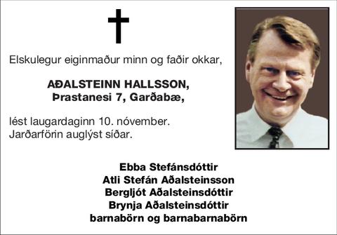 Aðalsteinn Hallsson,