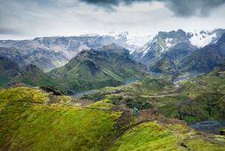 Það er alltaf fallegt landslagið í Þórsmörk og á Goðalandi.