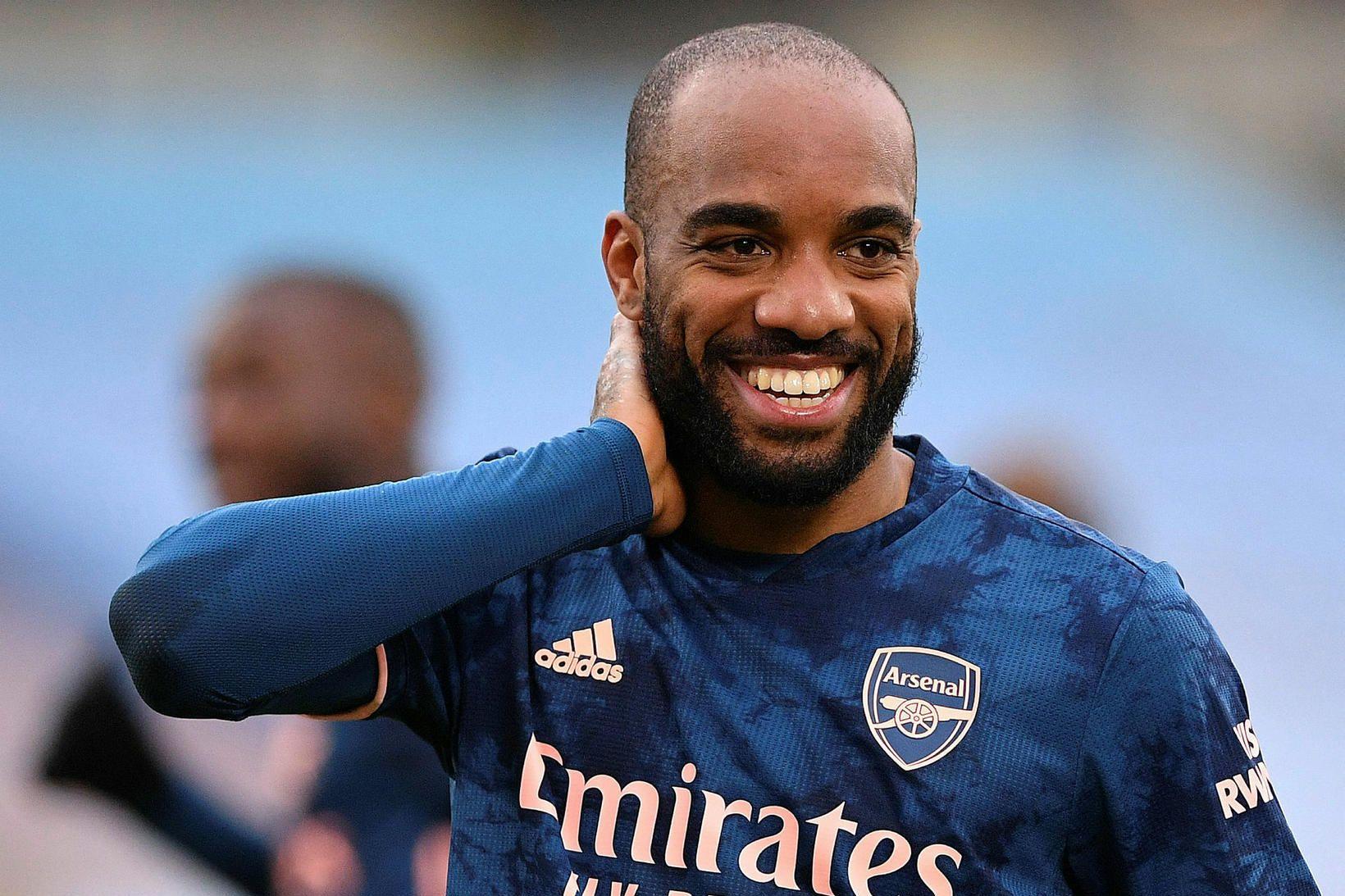 Alexandre Lacazette skoraði jöfnunarmark Arsenal.