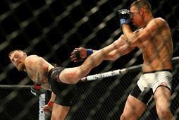 Conor McGregor tapaði fyrir Nate Diaz þegar þeir mættust á UFC 196 í mars.