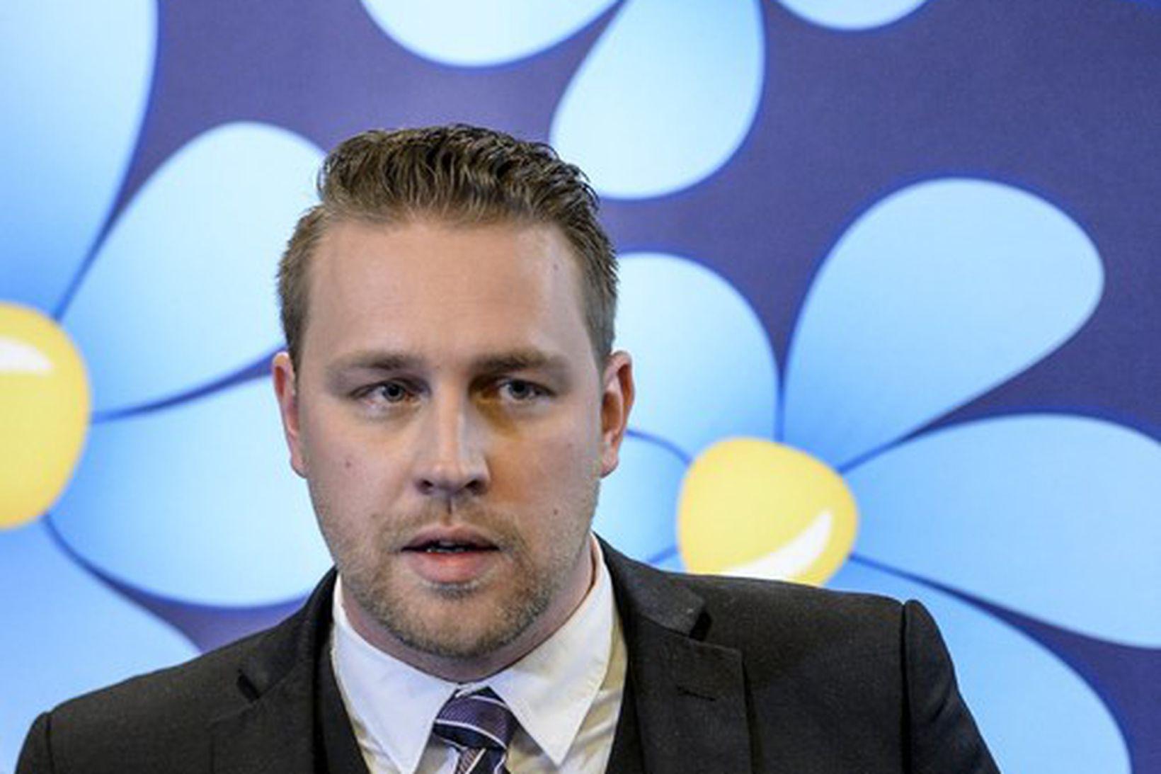 Mattias Karlsson, starfandi leiðtogi Svíþjóðardemókrata.