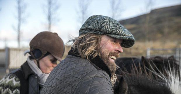 Hörður segir það að blanda saman jóga og hestamennsku vera áhugavert.