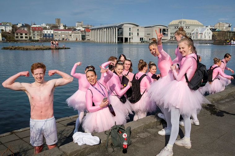 Ballerinas by the Pond in Reykjavík.