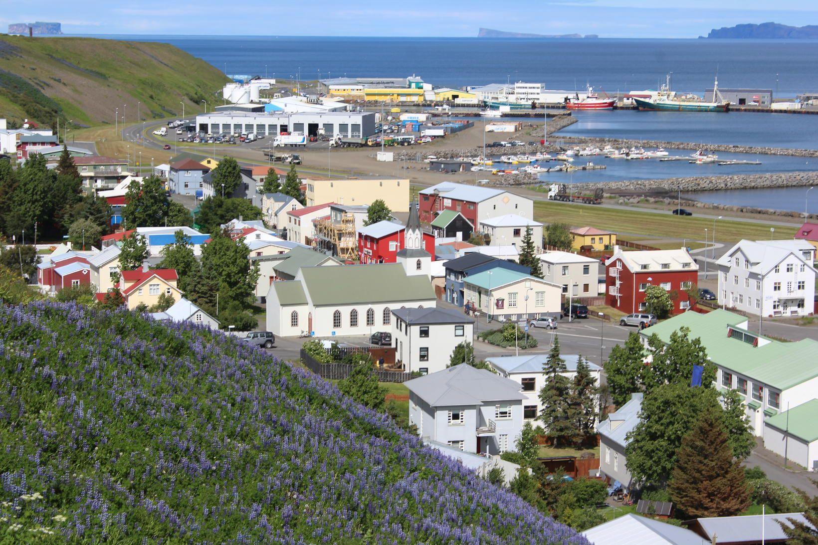 Sauðárkrókur á Norðurlandi vestra.