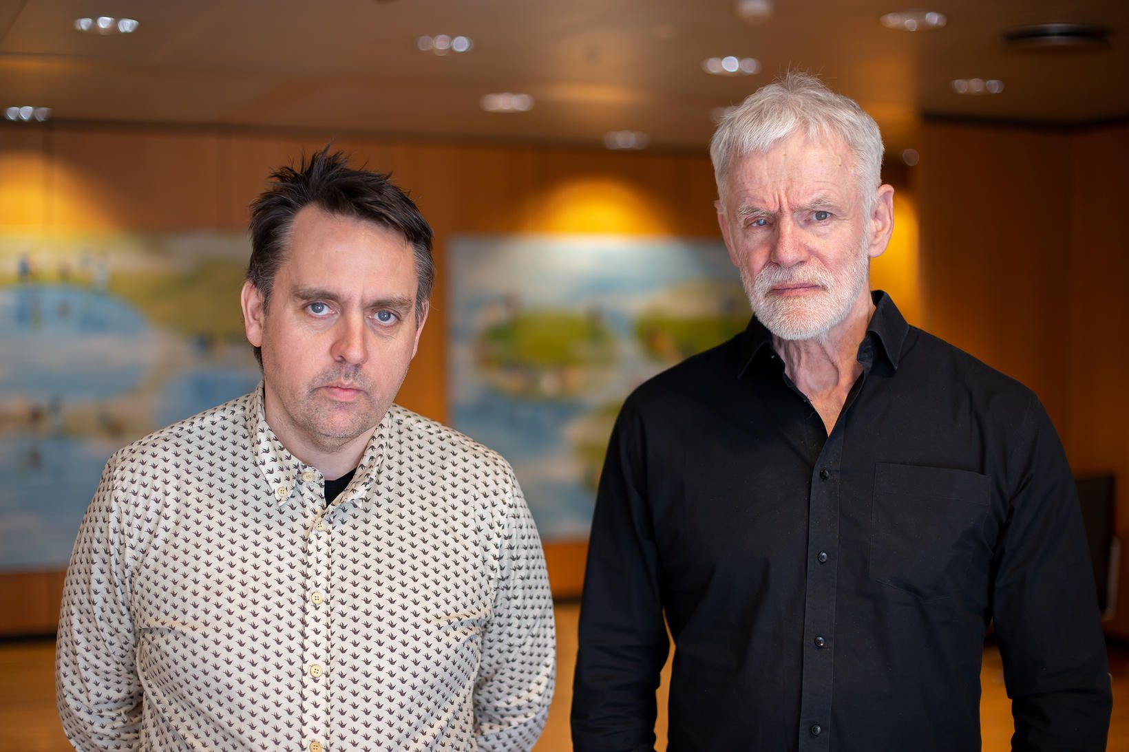 Bjarni V. Halldórsson og Kári Stefánsson.
