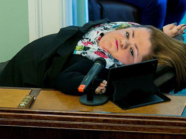Freyja Haraldsdóttir was an MP for Bright Future. She suffers from brittle bone disease.