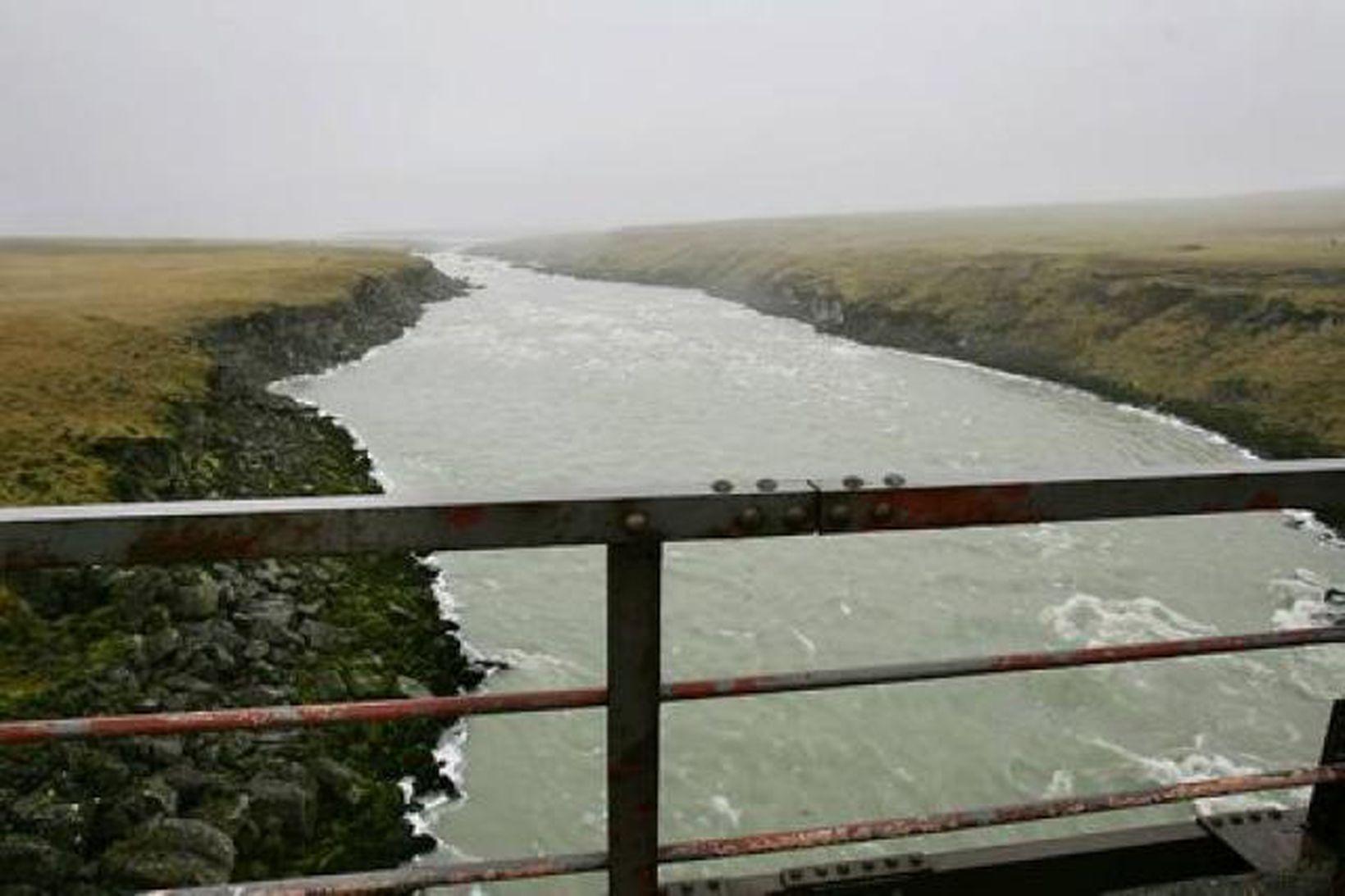 Frá neðri hluta Þjórsár.
