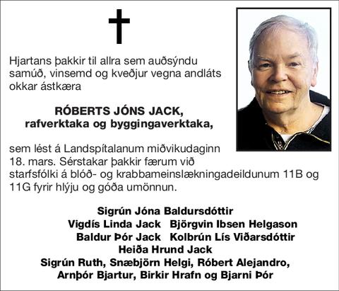 Róberts Jóns Jack,