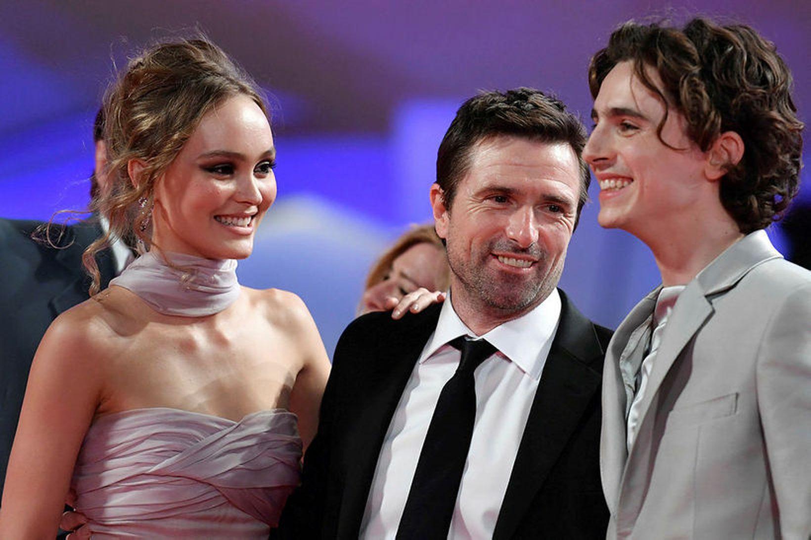 Lily-Rose Depp, leikstjórinn David Michod og Timothee Chalamet.