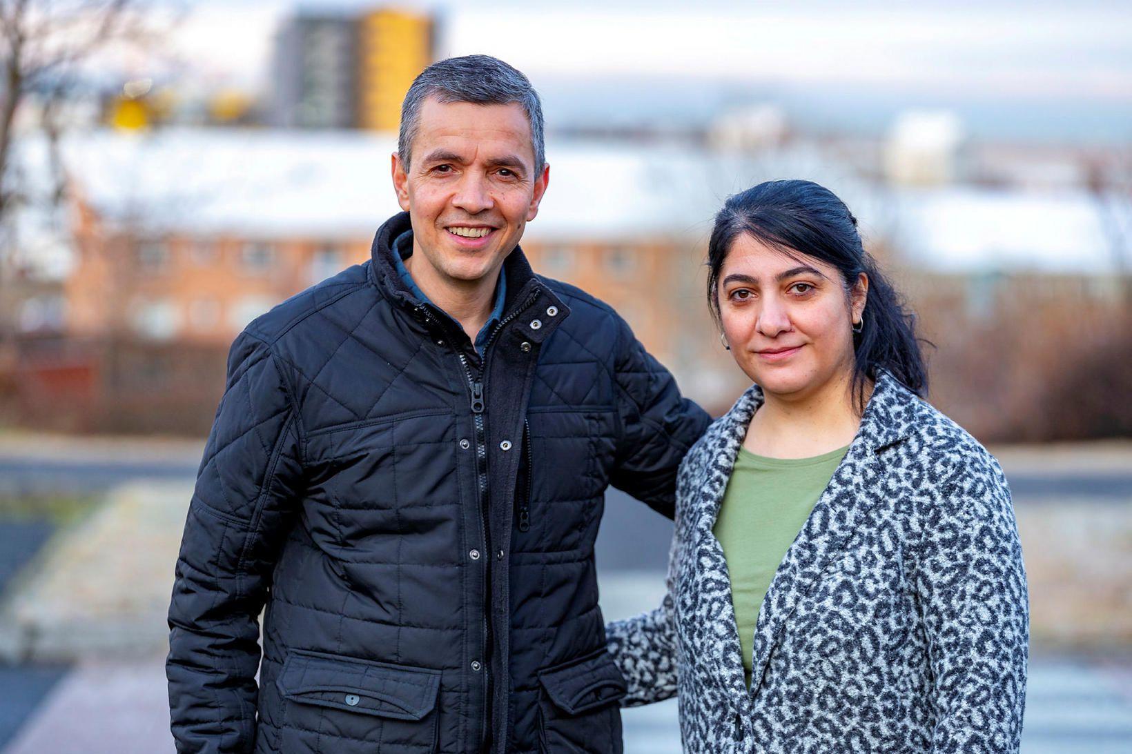 Hjónin Salah Karim Mahmood og Susan Rafik Hama hafa verið …