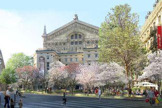 Palais Garnier í níunda hverfi - tölvuteikning af fyrirhuguðum framkvæmdum.