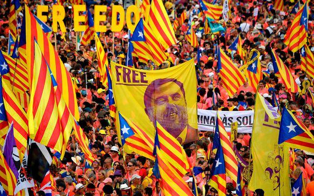 Junqueras er í miklum metum meðal katalónskra sjálfstæðissinna.