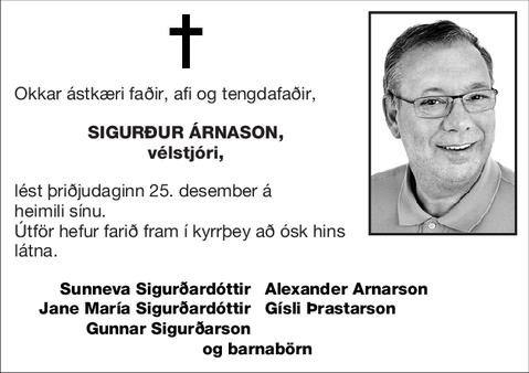 Sigurður Árnason,