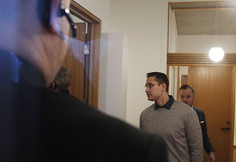 Thomas Møller Olsen at the Icelandic high court.