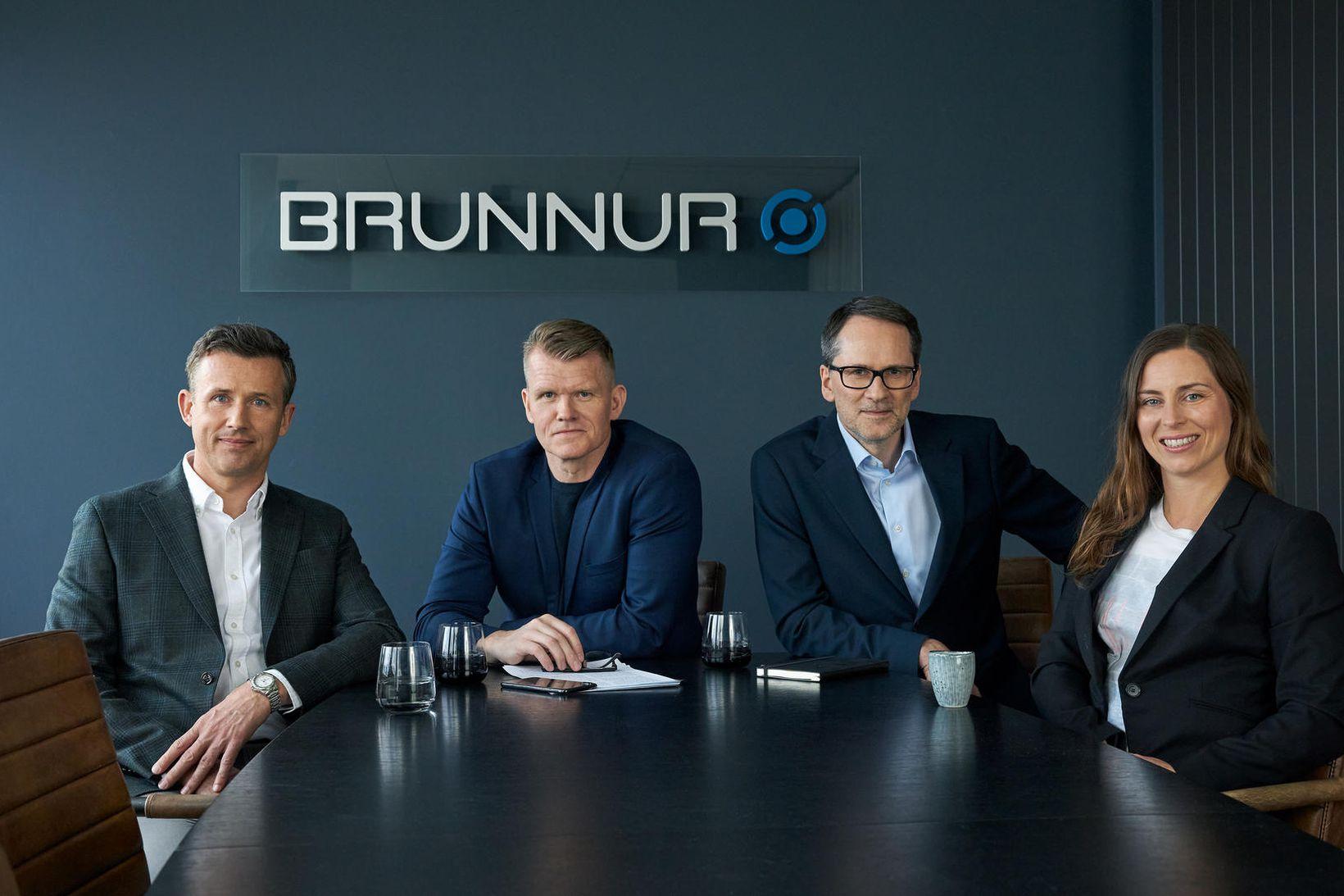 Fjárfestingastjórar Brunns Ventures. Frá vinstri: Kjartan Örn Ólafsson, Árni Blöndal, …