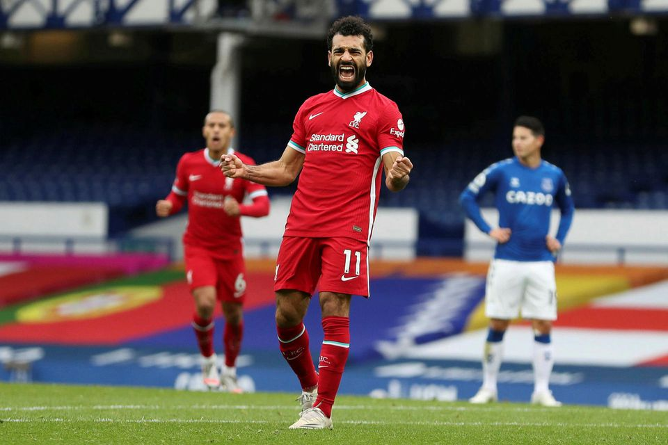 Mohamed Salah kom Liverpool yfir í annað sinn á 72. mínútu.