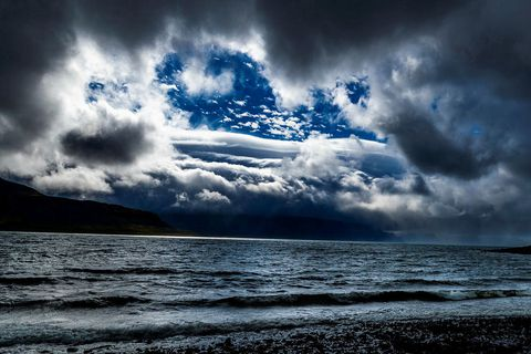 The light was unbelievable in Arnarfjörður fjord.