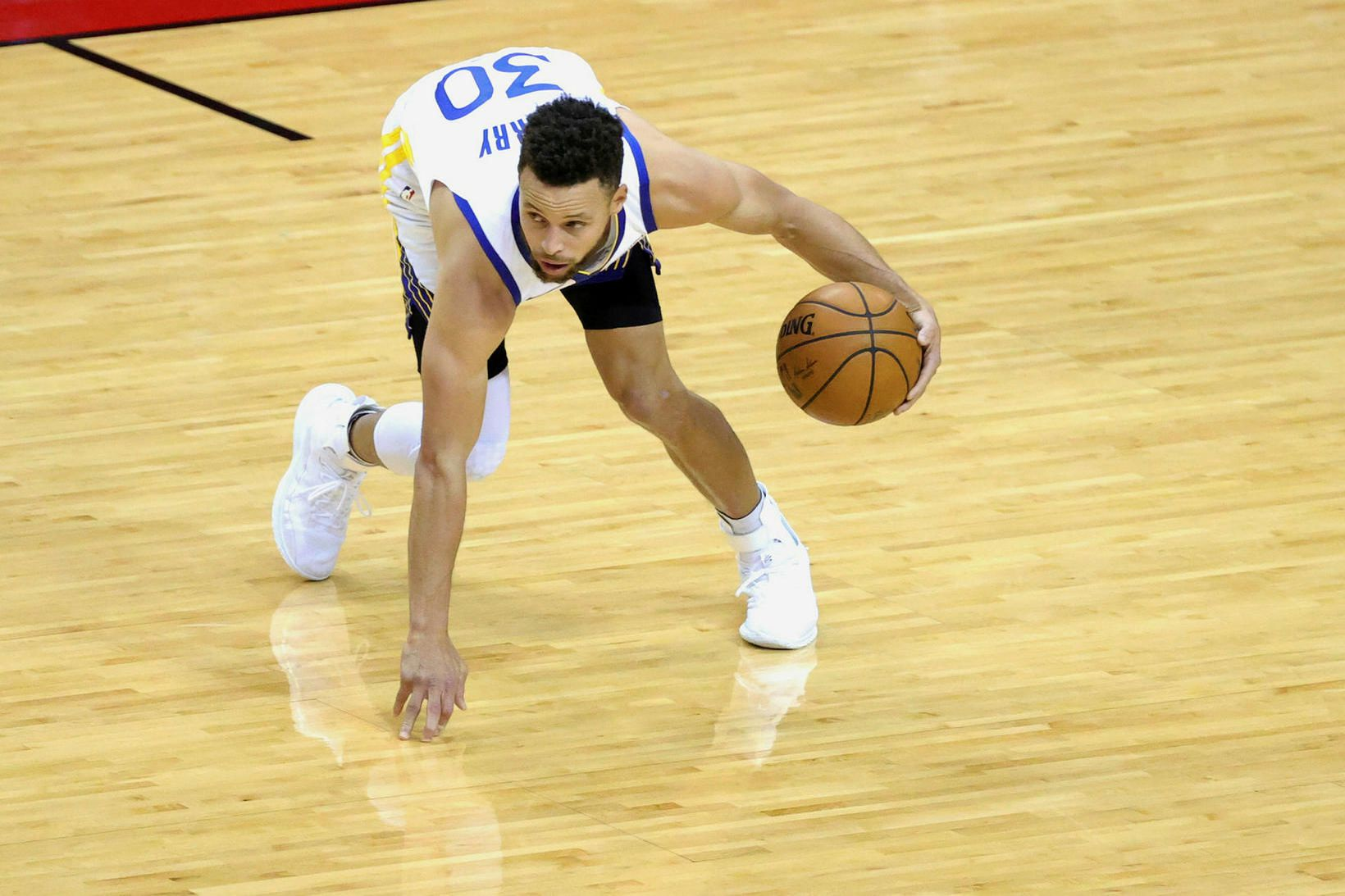 Steph Curry átti góðan leik í nótt.