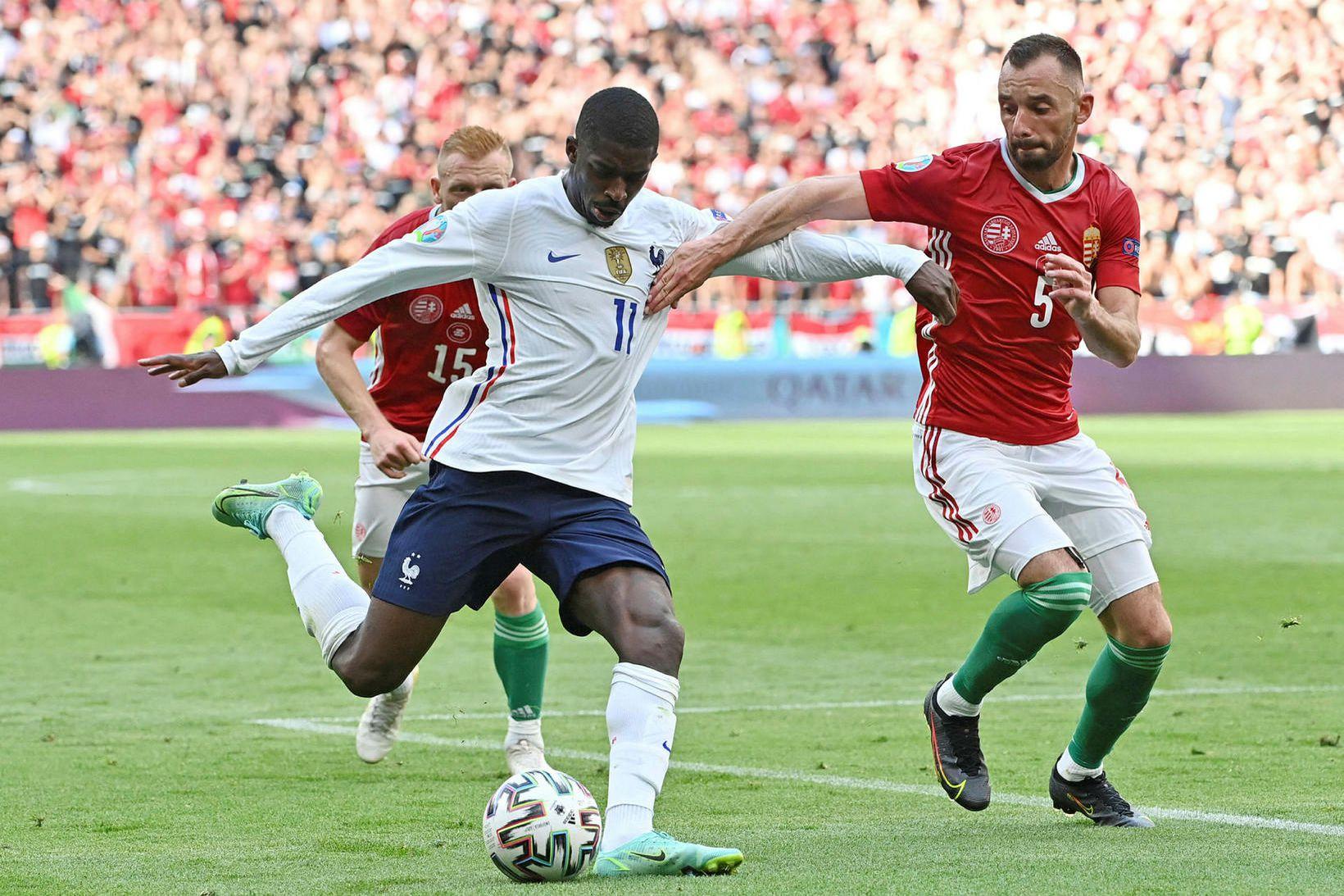Ousmane Dembélé kom sterkur inn af bekknum gegn Ungverjalandi áður …