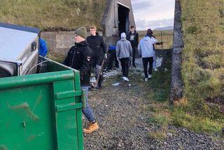 23,3 tonn af rusli verða send til förgunar. Aðallega var um búslóðir að ræða.