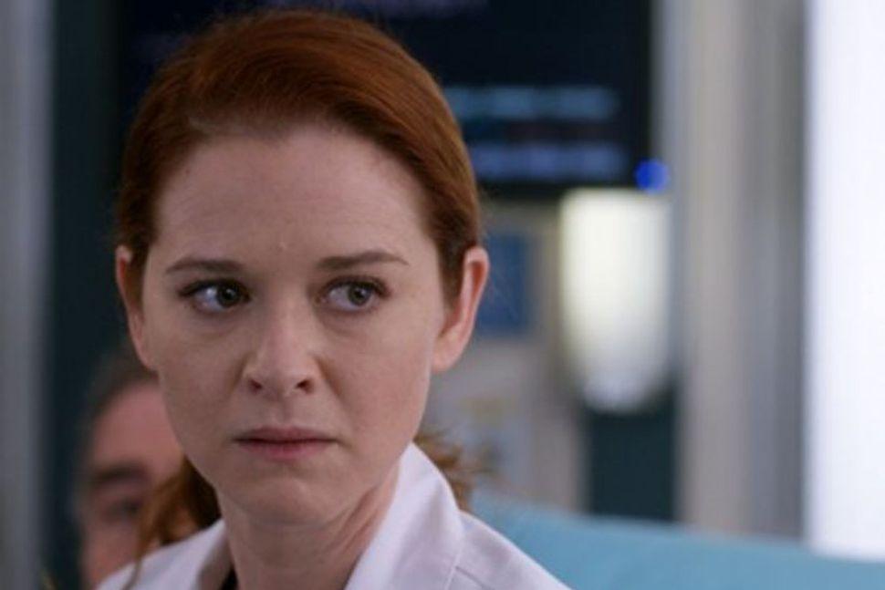 Sarah Drew í hlutverki sínu sem Dr. April Kepner í ...