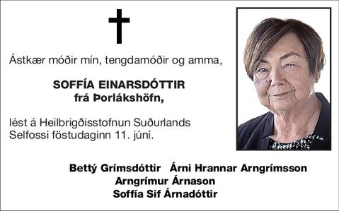 Soffía Einarsdóttir