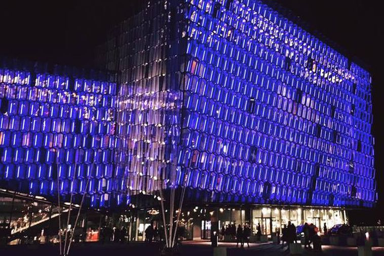 Harpa concert hall and conference center.