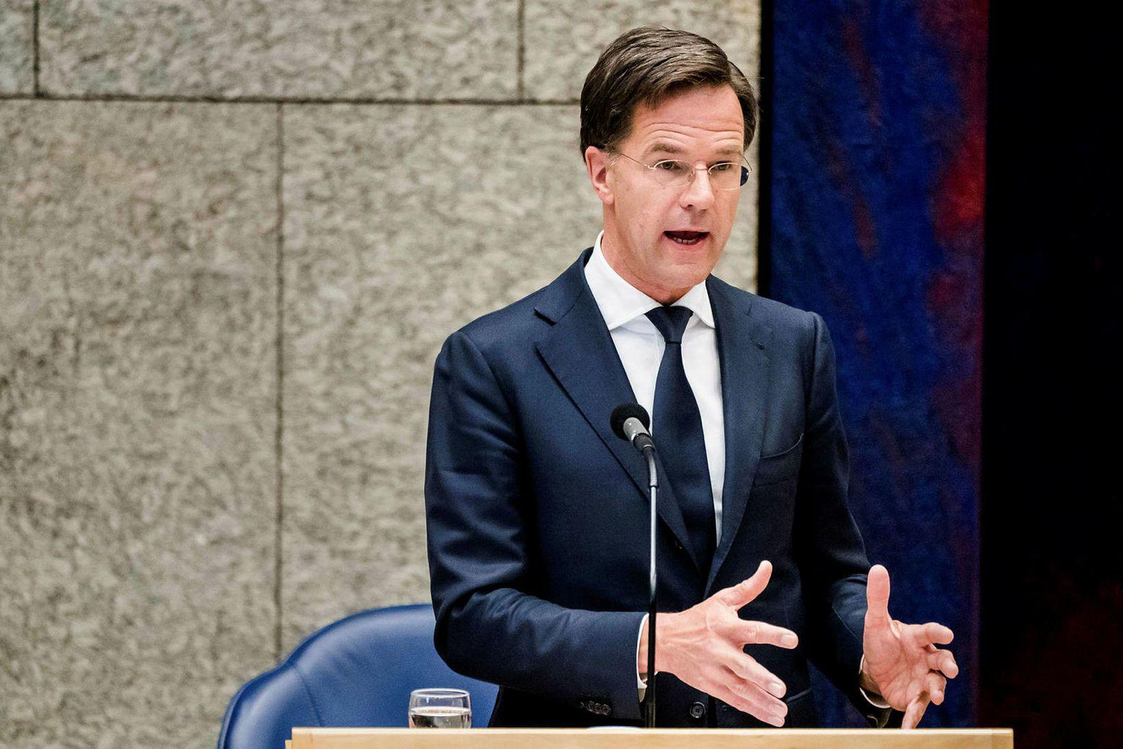 Forsætisráðherra Hollands, Mark Rutte.