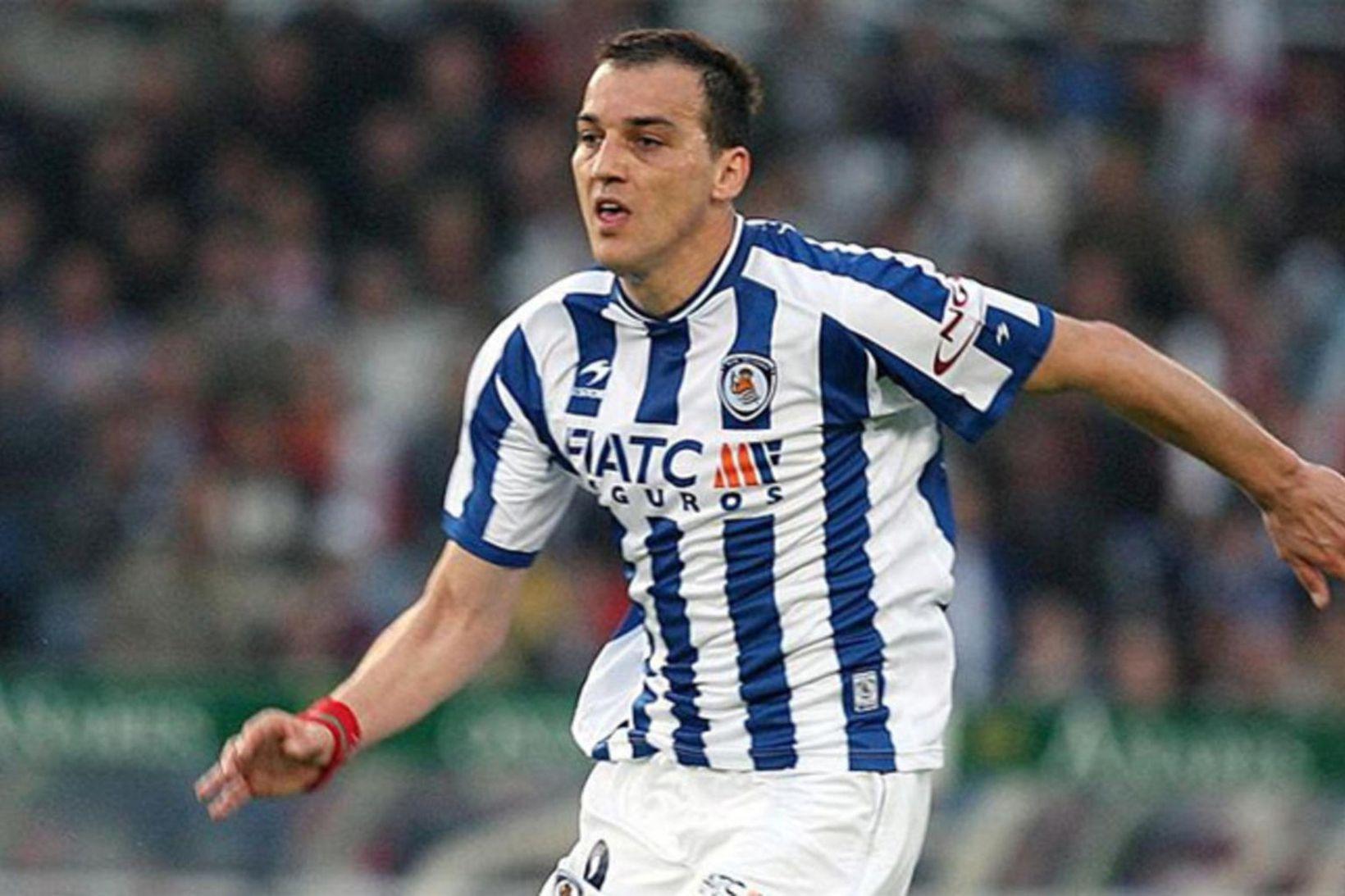 Darko Kovacevic í leik með Real Sociedad á Spáni.