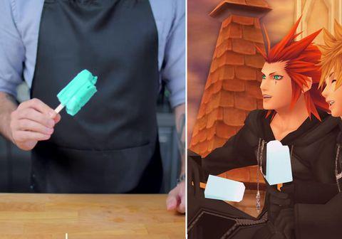 Sjávarsaltsísinn spilar ákveðið hlutverk í Kingdom Hearts tölvuleikjunum.
