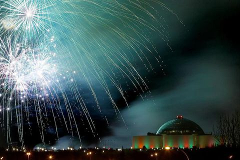 Perlan is one of three locations ideal to visit on New Year's Eve to shoot up fireworks