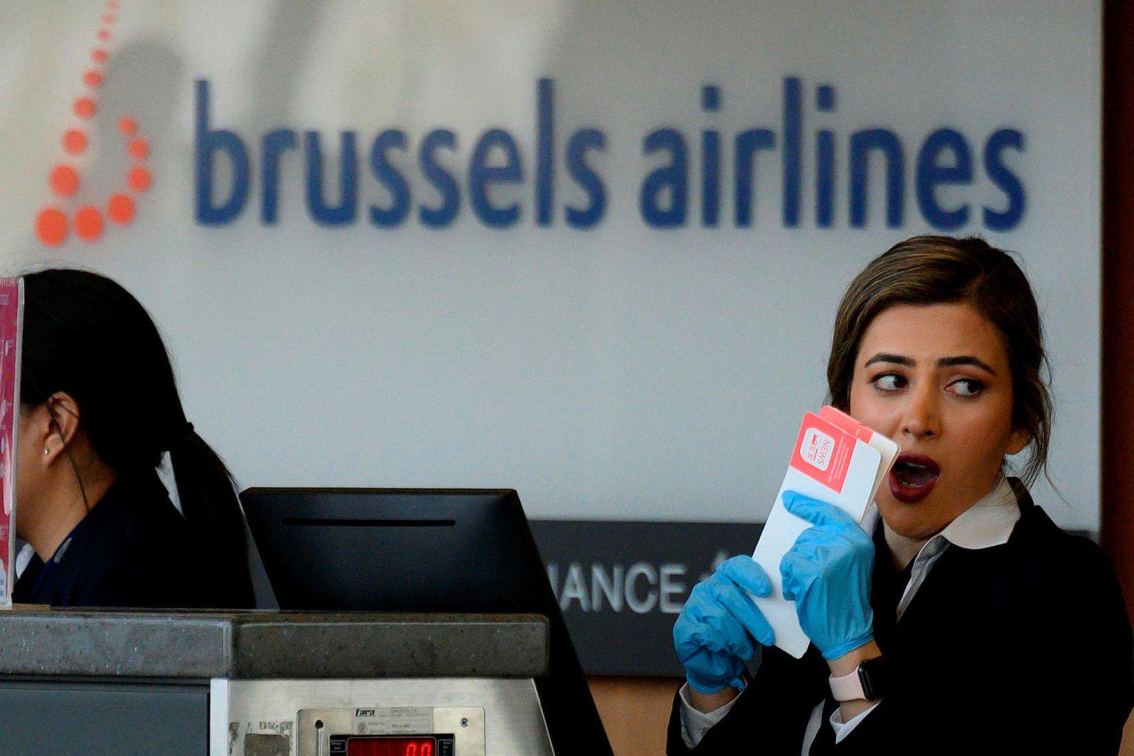 Atvikið átti sér stað í flugvél Brussels Airlines.