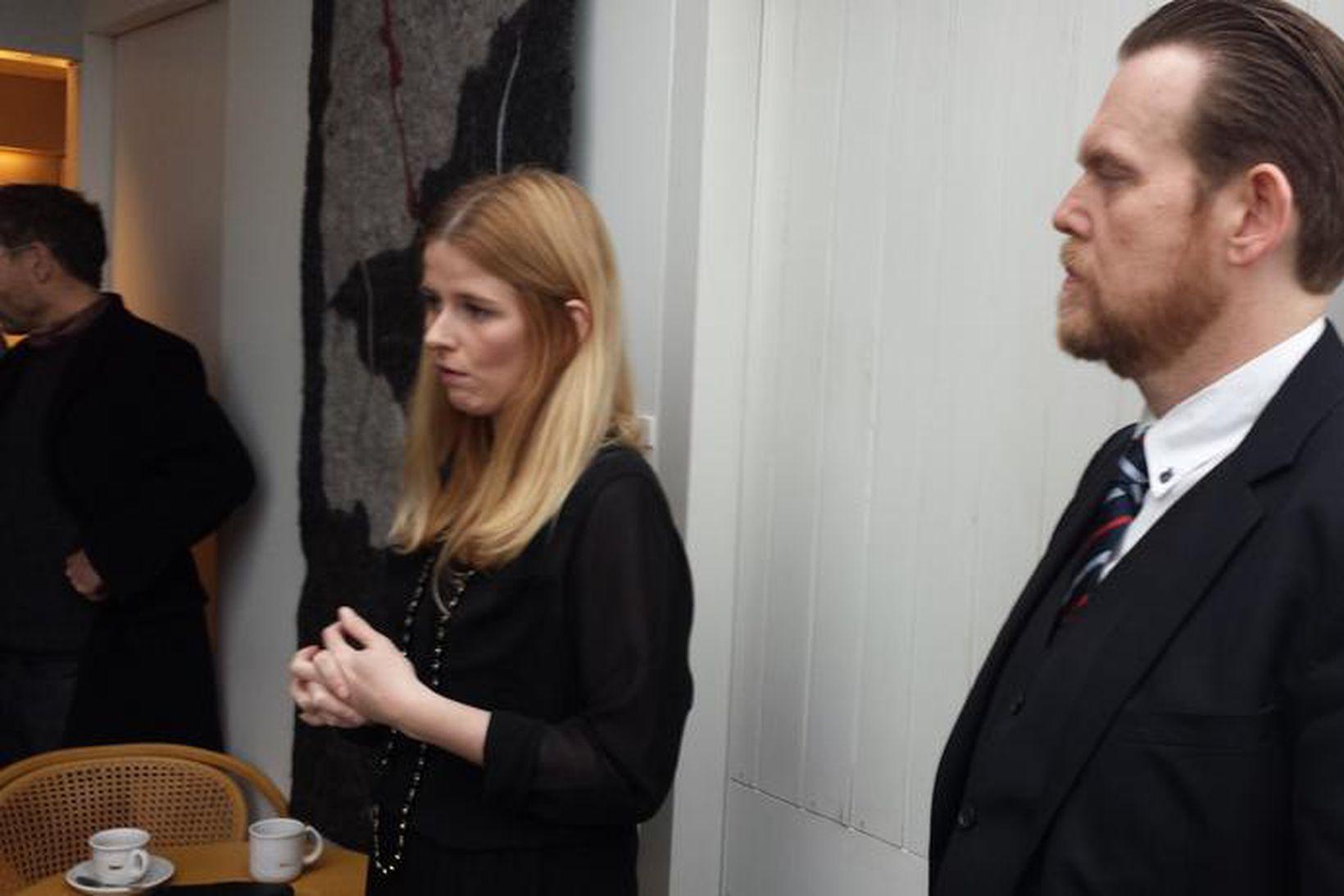 Heiða Helgadóttir og S. Björn Blöndal.