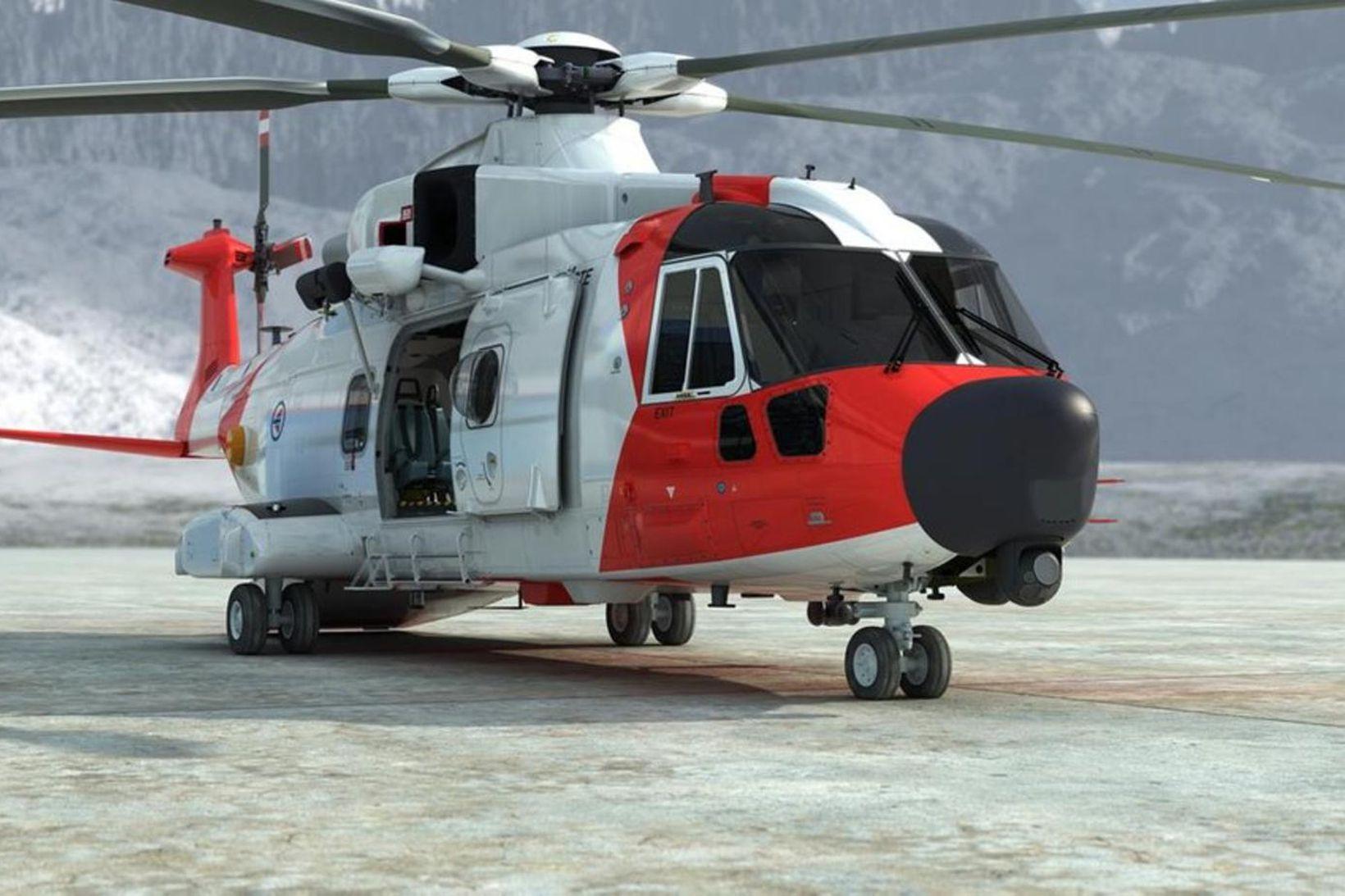 AgustaWestland AW101, eða SAR Queen eins og hún er kölluð, …