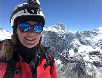 Vilborg Arna í sínum þriðja Everest-leiðangri.