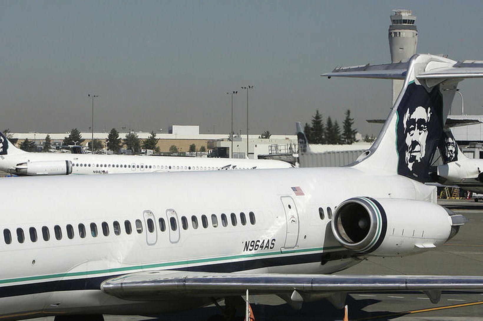 Flugvélar á alþjóðaflugvellinum í Seattle.