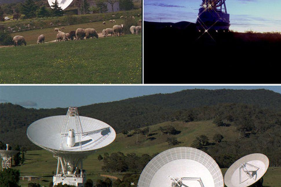 Loftnetsstöðvar Deep Space Network NASA taka nú á móti gögnunum ...