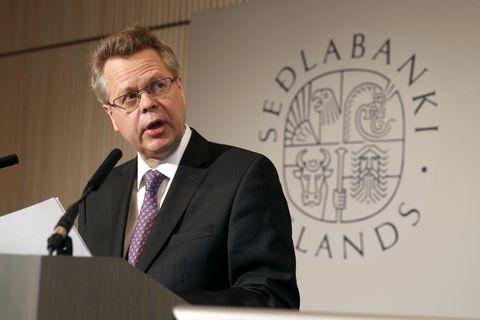 Már Guðmundsson, Head of the Central Bank of Iceland.