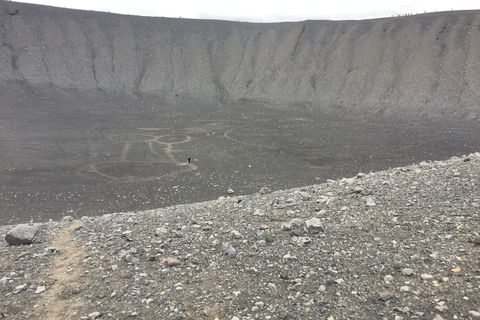 Drawing images into the crater is a popular pastime it seems.