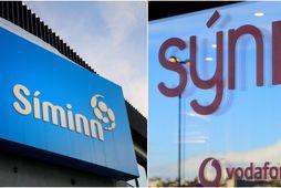 Síminn og Vodafone voru stærstu fjarskiptafyrirtækin í fyrra.